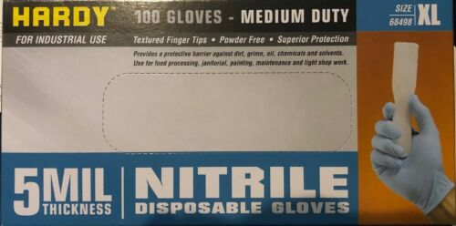 Hardy 100 5MIL Thickness Nitrile Disposable Gloves X-Large XL