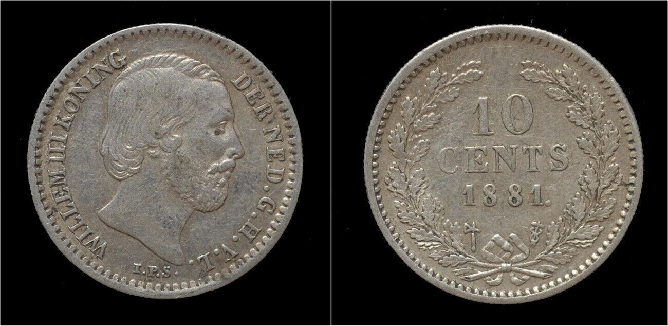 Netherland Willem III 10 cent 1881