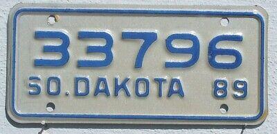 South Dakota 1989 USA Motorrad Nummernschild Motorcyle License Plate
