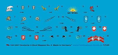 Peddinghaus 1/144 3447 Deutsche U-Boot Wappen No 2