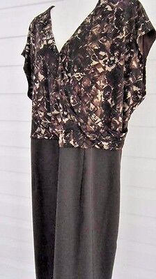 Women's Dress size  plus size PLUS  24 W brown print REDUCED NOW