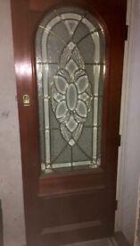 External hardwood door