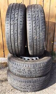 4 roues 15'' 4 x 114.3 + pneus 4S Continental 185/65/15 à vendre