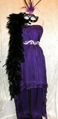 UNIKAT! Hexe~Vampir~Gatsby Kleid + Maske Gr XS Karneval~Fasching~Motto - Teufel Motto Kostüm