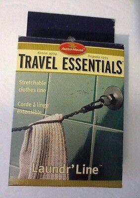 NEW Rare AUSTIN HOUSE Travel Essentials STRETCHABLE CLOTHES LINE - Laundr' Line