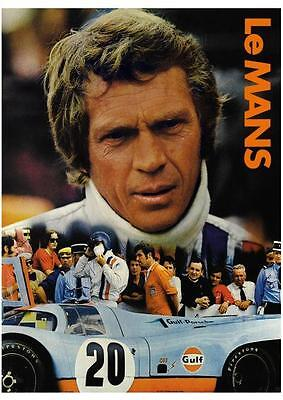 Le Mans POSTER Steve McQueen **LARGE** Ferrari 512 Porsche 917 911 Racing movie