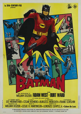 Batman Adam West  1966 cult serial movie poster print - 1966 Batman Movie Poster