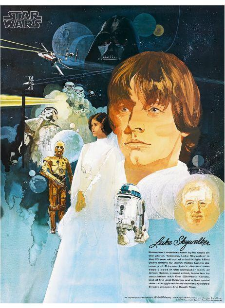 Star Wars  POSTER  3 of 4 Set Sci-Fi Art Burger Chef Harrison Ford George Lucas