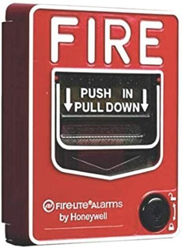 FIRE-LITE BG-12L - DUAL ACTION  STATION, RED, TERMINAL BLOCK, KEY LOCK