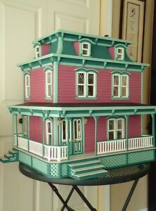Wood Victorian Dollhouse 1 034 Scale The Lily Doll House