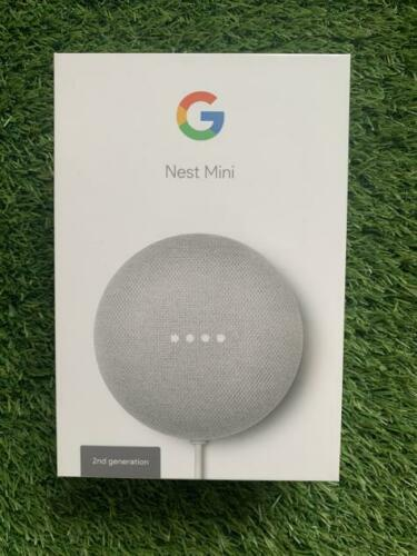 Google Nest Mini Hands-Free Smart Speaker, 2nd Gen , Charcoal and chalk