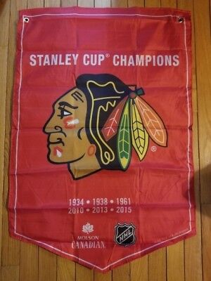 Chicago Blackhawks Flag 2018 Molson Coors Light Nhl Stanley Cup Champions Banner