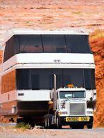 Transport de roulottes ou de véhicules