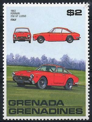 1963 FERRARI 250 GT LUSSO SPORTS Car Stamp (Grenada)