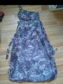 Gorgeous size 12 floor length, one shouldered dress