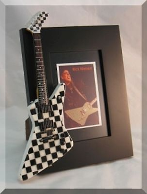 RICK NIELSEN Miniature Guitar Frame CHEAP TRICK