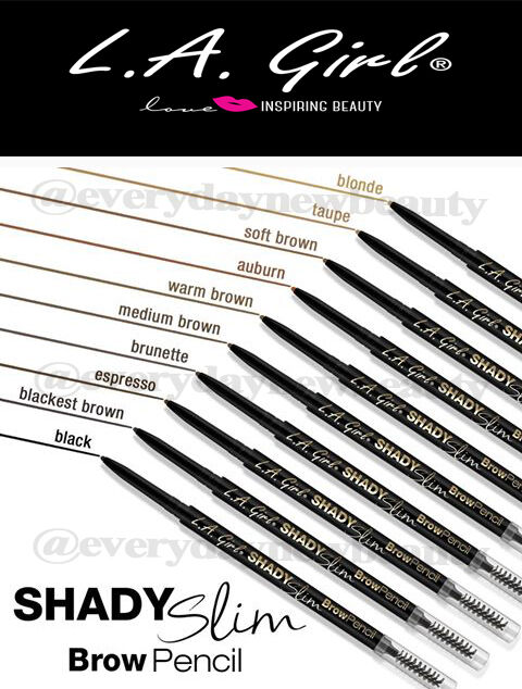 1PC LA Girl Shady Slim Eyebrow Pencil - 10 Shades Retractabl