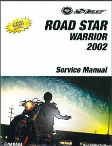 2002-2010 Yamaha Road Star Warrior 1700 Service Manual on a CD - XV1700 RoadStar
