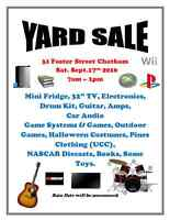 Family Yard Sale 31 Foster St Chatham.