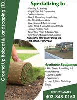 Ground Up Bobcat & Landscaping LTD.