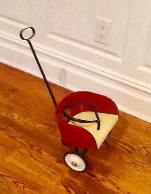 Antique Doll Tin Stroller