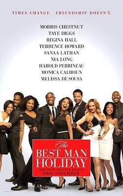 BEST MAN HOLIDAY -2013- orig 27x40 ADV movie poster - TERRENCE HOWARD. NIA (Terrence Howard Best Man Holiday)