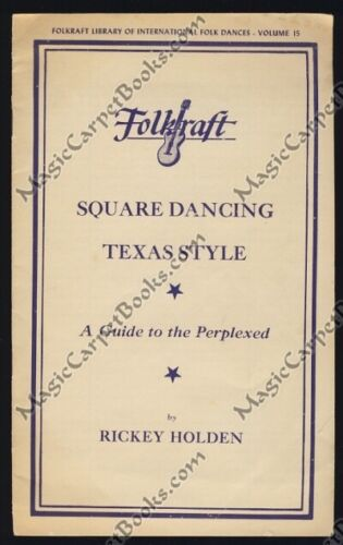 1949 SQUARE DANCING TEXAS STYLE Ephemera COWBOY DANCE Promenade DO-SI-DO Hoedown