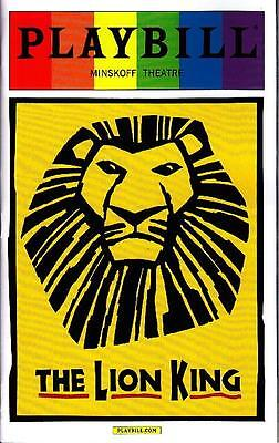 THE LION KING GAY PRIDE PLAYBILL NEW YORK CITY BROADWAY JUNE 2015 LIMITED ISSUE