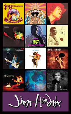 Jimi Hendrix Album Discography Magnet  4 5  X 3 5   Doors Stones Janis Dylan