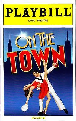 ON THE TOWN PLAYBILL NYC NEW YORK BROADWAY APRIL 2015
