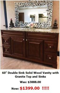 Bathroom  FINAL SALE - Caramel, Antique White, Royalwood Vanity