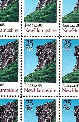 1988 - NEW HAMPSHIRE STATEHOOD - #2344 Mint -MNH- Sheet of 50 Postage Stamps