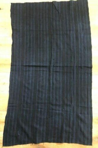 """Hand Woven & Dyed Strip Textile INDIGO MUD CLOTH Mali West Africa 56"""" X 32"""" B3"""