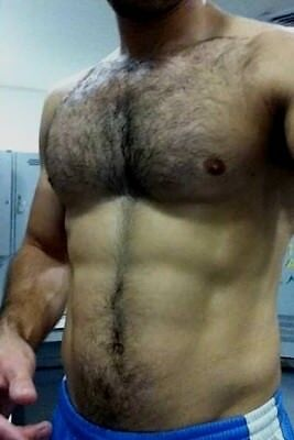 Shirtless Male Muscular Beefcake Hairy Chest Abs Hunk Jock Stud PHOTO 4X6 F816