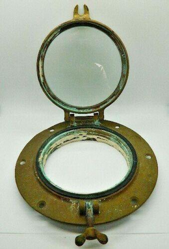 """Antique/Vintage WC Wilcox Crittenden #6 Bronze/Porthole 9.5 Round/6"""" window ship"""