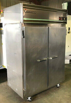 Victory Ra-2d-s7 Double Door Stainless Refrigerator Reach In Used