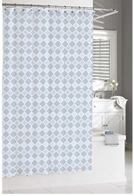 KASSATEX MARRAKESH FRENCH BLUE FABRIC SHOWER CURTAIN MORROCAN STYLE EXOTIC LOOK!
