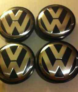 VW Volkswagen Center Wheels Caps & Grill Emblem - 65 / 55mm Kitchener / Waterloo Kitchener Area image 2
