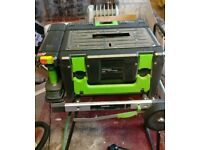 Power 8 workshop, Cordless drill, circular saw and impact driver