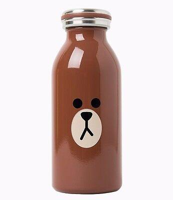 Korea Naver Line Friends Cute Brown Mosh Bottle 350Ml Mascot Gift
