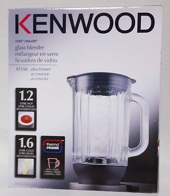 Glass Blender Attachment for Kenwood Cooking Chef #AT358 New In Box! (Blender Kenwood)