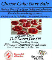 Cheese Cake Sale ,FRIDAY DEC 15th