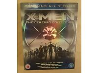 Brand New X-men 7 Disk Blu-ray Cerebro Collection box set