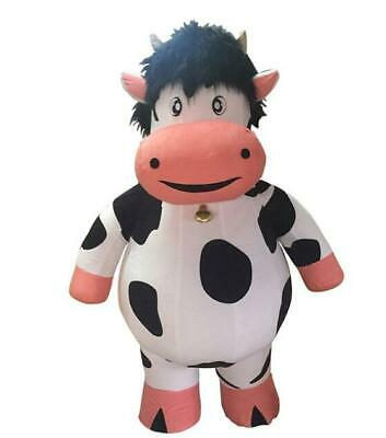 2m Inflatable Milk Cow Mascot Costume Animal Advertising Adults Fancy Dress Suit - Inflatable Cow Suit