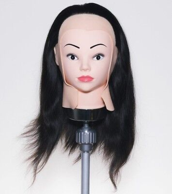 SAMMI SME-1000W Hairdressing Examination Wig 100% Human Hair Full Cap 18 Inches