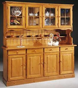 Credenza cristalliera rustica in legno massello in vari for Tft arredamento