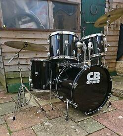 Drum kit CBS, full size Black.