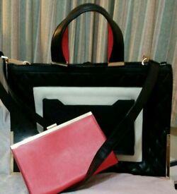 Handbag with clutch bag