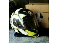 AGV K3 Gothic 46 Valentino Rossi Full Face Motorbike/Motorcycle Helmet.