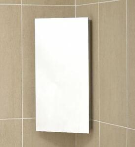 Stainless Steel Bathroom Corner Cabinet Mirror Wall Mounted